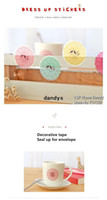 Wholesale 4 Lace Dress up stickers Decorative tape seal up for envelope Adhesive tape Novelty Stationery School supplies dandys