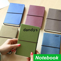 Wholesale 3 Vintage Leather Notebook Elastic drawstring High quality hardcover note book for journal agenda School supplies dandys