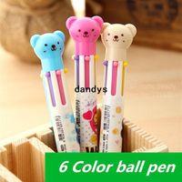 novelty pens - 30 ballpoint pens Teddy bear cute Stationery Hookah pen Caneta Novelty Office accessories school supplies dandys