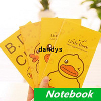 Wholesale 24 Little yellow duck Notebook diary book notepad for planner journal kawaii stationery office School supplies dandys