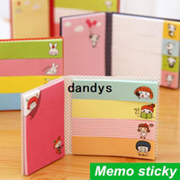 Wholesale 48 Memo sticky note fold N times stick Post it notes stickers kawaii stationery office material School supplies dandys