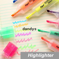Wholesale 21 Marker Highlighter pen for reading book Fragrant Fluorescent pen office accessories Stationary School supplies dandys