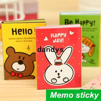 Wholesale 24 Memo sticky note folding size Post it notes stickers scrapbooking stationery office material School supplies dandys