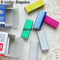 Wholesale 16 set staples nail Colored staples for stapler stationary Office accessories School supplies dandys