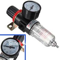 Wholesale Black Pneumatic Air Source Treatment Filter Regulator w Pressure Gauge AFR