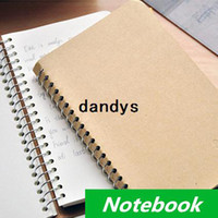 Wholesale 4 Vintage Notebook Spiral diary book New notepad Simple design stationery office material School supplies dandys