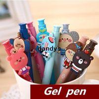 Wholesale 48 Black Cute Gel pen Kawaii Stationery Caneta pilot pen Hookah pen Novelty zakka Office accessory school supplies dandys