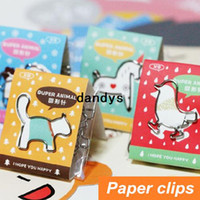 paper folder - 216 Cute animal Paper clips Metal bookmarks Paper holder folder bookmark Stationary office material School supplies dandys