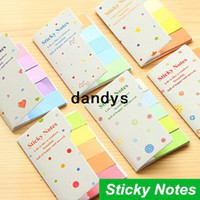 Wholesale 72 set Rainbow Sticky notes Multicolor Post it Memo pad scrapbooking stickers bookmark office material School supplies dandys