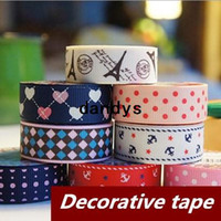 Wholesale 30 Cotton Decorative Adhesive tape England Floral prints design stickers washi japan masking tape School supplies dandys