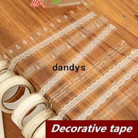 Wholesale 10 Lace Adhesive tape Washi Japan masking tape Decorative stickers Stationery Scrapbooking sticky School supplies dandys