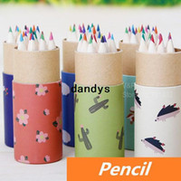 Wholesale 72 Color pencil Back yard Rural design kawaii Stationery for art Drawing kids graffiti Office school supplies dandys