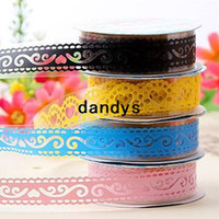 Wholesale 10 Lace Decorative tape Bud Washi masking Japanese tape Scrapbooking stickers Adhesive Cloth tape School supplies dandys