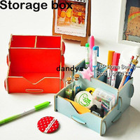 Wholesale Wooden storage box makeup bead storage containers Zakka drawer Home office Desk organizer Decoration Novelty households TB8718 dandys