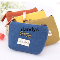 Wallets unisex Canvas Mini Wallets Vintage scenery dillenii Coin purse Key pouch Storage bag case Office organizer School supplies 6310, dandys