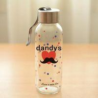 glass water bottles - 300ml Glass water bottle Cute Beard portable cup Tasteless hermetic drinkware outdoor fun sports Novelty household Gift dandys