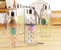 Wholesale 4 ml Glass water bottle Animal portable cup Tasteless hermetic drinkware outdoor fun sports Novelty household dandys