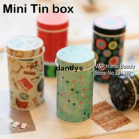 Wholesale 32 Storage Tin Box Zakka organizer Small decorative tins box Flowers design item containers gift Novelty households dandys