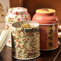 Bamboo food storage tins - 15 Flowers design tin tea box Tea canister Candy jars food storage Girl favor zakka gift decoration Ikea households dandys