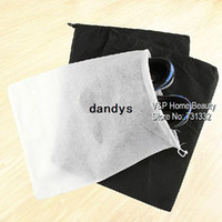 Wholesale 20 Black White Mesh drawstring bags for shoes Clothes Storage bag Zakka organizer Travel package Novelty household dandys