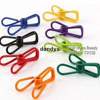 Wholesale Multifunction Mini metal clips pegs for bag storage clothes memo note clamp paper Kitchen accessories Novelty household dandys