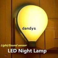 Wholesale Fire balloon Light sound sensor LED night lamp Home decoration Nightlight Creative gift for kids Lights Novelty households dandys