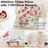 Cotton sectional sofa - 40X40cm Throw Pillow with X150cm Blanket Spring Flower cover cushion Big quilt Car chair Sectional Sofa Covers TB8200 dandys
