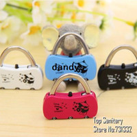 Wholesale 4 Mini Digit Drawer lock Suitcase Lock Padlock Anti theft Lock with Alloy Password Hook novelty households TB8056 dandys