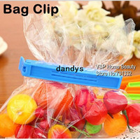 Wholesale 15 Colored Plastic Bag clip Plus size Sealer up for food flavoring trash pack Kitchen accessories Novelty household dandys
