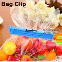 Wholesale 15 Colored Plastic Bag clip Plus size Sealer up for food flavoring trash pack Kitchen accessories Novelty household dandys