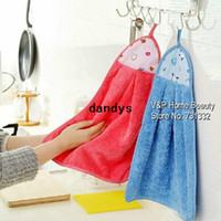 Wholesale 5 Hanging fabric cleaning cloth Kitchen Washing towel hand dishcloth Soft product for kichen Novelty household dandys