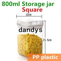 Bamboo canning jars - 800ml Plastic jars and lids Canning jars Canister Storage jar Mason Jars Casket Tea container Caning Sealing Violetta TB8708 dandys