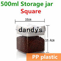 Wholesale 500ml mini Plastic jars and lids Food Candy storage Tea container Caning Sealing Violetta Mason Jars Kitchen accessories TB8708 dandys