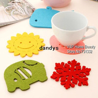 Wholesale Colored Cup Mat Placement Cotton Bulk Felt Coaster Crochet Kitchen accessory Novelty households Gift dandys