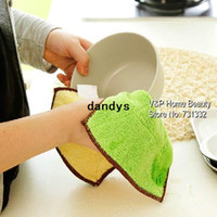Wholesale 10 Microfiber cleaning cloth Kitchen Washing towel mix color soft absorbing product for kichen Novelty household dandys
