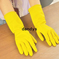 Wholesale 6 Long Latex Gloves for cleaning dish cloth washing cooking Eco Guantes Cocina Kitchen accessory Novelty household dandys