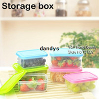Wholesale 300ml ml Kitchen Mini Plastic storage box Caning sealing Jars and lids set for food fruit Spice seasoning Condiments TB8703 dandys