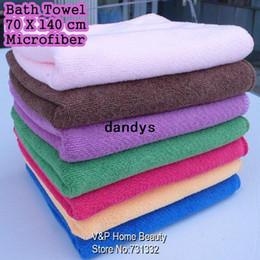 Wholesale x70cm Microfiber Fabric Bath Towel Bulk Beach Sport Wraps Salon yogo Towel Hotel cheap towels toalha TB8061 dandys
