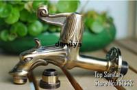Wholesale TB9002 Antique bronze Dragon tap Animal shape faucet Garden Bibcock Rural style with Decorative outdoor faucet for Garden dandys