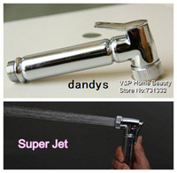 Wholesale Full brass Chrome Polished handheld Bidet Spray Gun Garden Faucet Super Jet for Toilet Dog wash Floor washing SAS2806 dandys