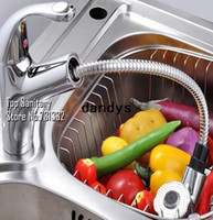 Yes Ceramic Brass Pull out Spout Spray head Kitchen sink faucet Chrome cast Lavabo mixer Cozinha torneira banheiro hansgrohe rubinetto TB2025, dandys