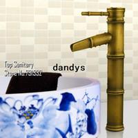 Wholesale Bathroom Bamboo basin sink Mixer surface Antique bronze Vintage faucet Lavabo tap spout hansgrohe cozinha torneira banheiro dandys
