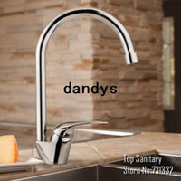 Yes Contemporary Single Handle Elegant swan European Kitchen Sink Faucet with chrome cast tap lavabo mixer banheiro torneira hansgrohe rubinetto 3010, dandys