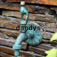 Wholesale TB9037 Antique bronze Cat tap Decorative outdoor faucet rural animal shape garden Bibcock for garden washing machine dandys