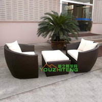 Foshan quiet Teng Furniture bamboo furniture set - Bamboo rattan sofa outdoor furniture garden sofa set foot washes imitation rattan sofa clubhouse balcony