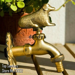 Wholesale TB9054 Dog tap Animal shape garden Bibcock Rural style antique bronze with Decorative outdoor faucet for Garden washing dandys