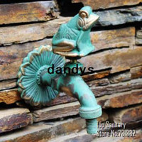 Wholesale TB9041 Decorative outdoor faucet rural animal shape garden Bibcock with antique bronze Frog tap for Garden washing dandys
