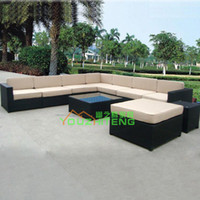 Foshan quiet Teng Furniture bamboo sofa table - Original bamboo sofa trendy winter outdoor furniture rattan sofa table combination Villa Guangdong Buddha