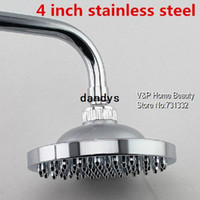 Wholesale 4 inch Stainless Steel Round Rainfall shower head copper nail chuveiro ducha mesa douche banheiro Bathroom accessories dandys