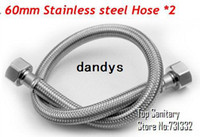 Wholesale 2 mm Shower pipe stainless steel hose copper core zinc cap G1 interface dandys